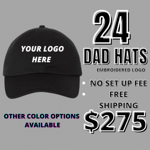 24 Embroidered Dad Hats