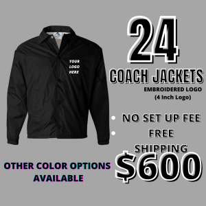 24 Embroidered Coaches Jackets